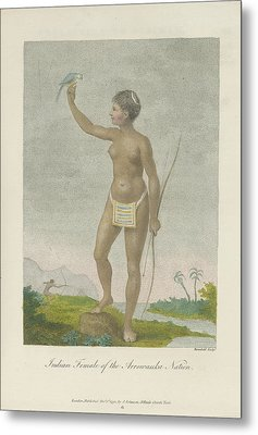 Indian Female Of The Arrowauka Nation Metal Print by British Library