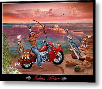 Indian Forever Metal Print by Glenn Holbrook