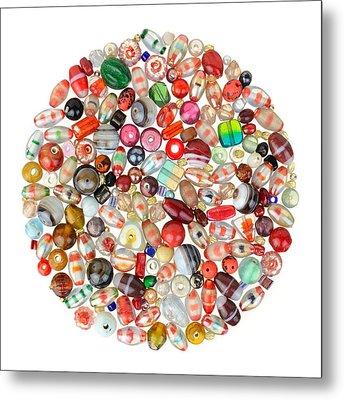 Indian Glass Beads Metal Print