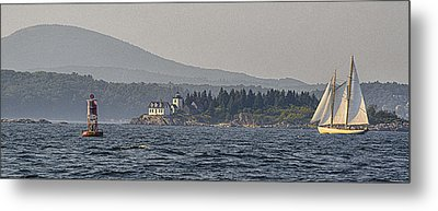 Metal Print featuring the photograph Indian Island Lighthouse - Rockport - Maine by Marty Saccone