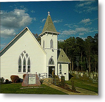 Indian Mission United Methodist Church Harbeson Delaware Metal Print by Pamela Hyde Wilson