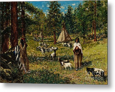 Indian Pastoral Metal Print by Celestial Images