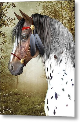 Metal Print featuring the digital art The Indian Pony by Jayne Wilson