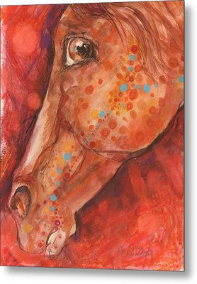 Indian Pony Metal Print by Mary Armstrong