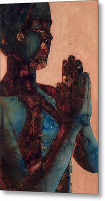Indian Prayer Metal Print