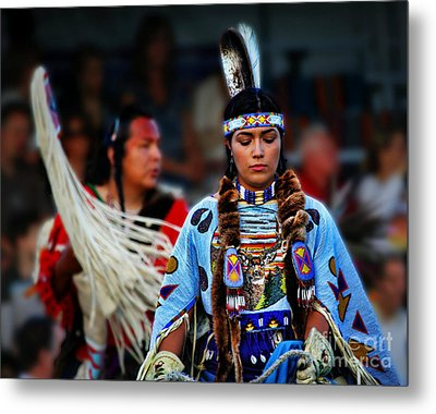 Indian Princess Metal Print by Scarlett Images Photography