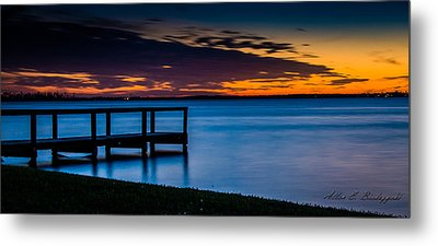 Metal Print featuring the photograph Indian Shores Dusk by Allen Biedrzycki