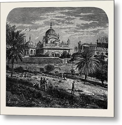 Indian Sketches The Tomb Of Runjeet Singh Metal Print