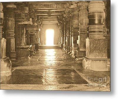 Indian Temple Metal Print by Mini Arora