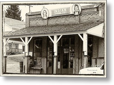 Indian Trading Post Virginia City Montana 02 Metal Print by Thomas Woolworth