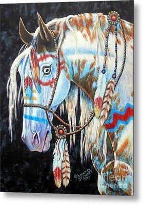 Indian War Pony #2 Metal Print by Amanda Hukill