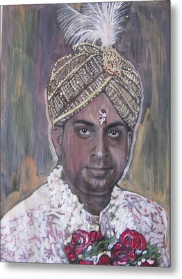 Indian Wedding Metal Print by Vikram Singh