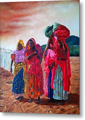Indian Women Metal Print