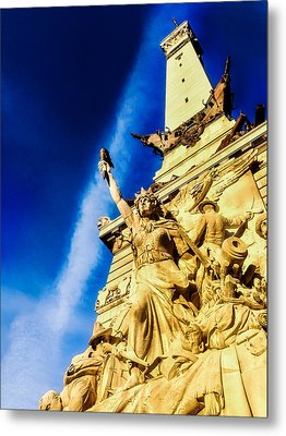 Indiana Civil War Monument Metal Print by Jon Woodhams
