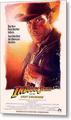 Indiana Jones And The Last Crusade  Metal Print