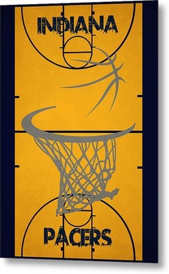 Indiana Pacers Court Metal Print by Joe Hamilton