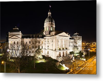Indiana State Capitol Building Metal Print by Twenty Two North Photography