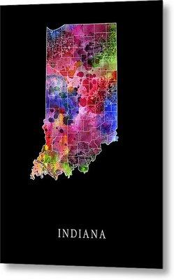 Indiana State Metal Print by Daniel Hagerman