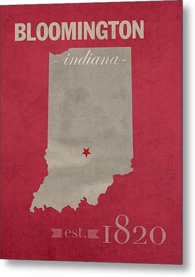 Indiana University Hoosiers Bloomington College Town State Map Poster Series No 048 Metal Print by Design Turnpike