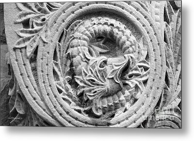Indiana University Limestone Detail Metal Print by University Icons