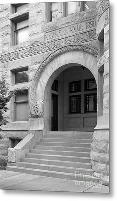 Indiana University Maxwell Hall Entrance Metal Print by University Icons