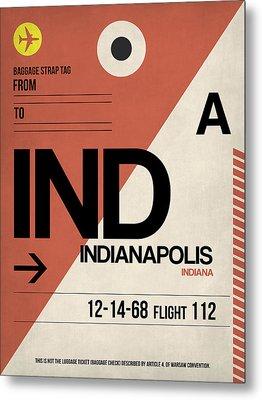 Indianapolis Airport Poster 1 Metal Print by Naxart Studio