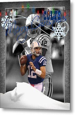 Indianapolis Colts Christmas Card Metal Print