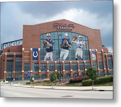 Indianapolis Colts Lucas Oil Stadium Metal Print