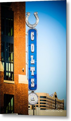 Indianapolis Colts Sign Picture Metal Print