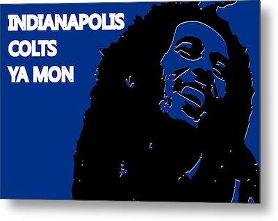 Indianapolis Colts Ya Mon Metal Print by Joe Hamilton
