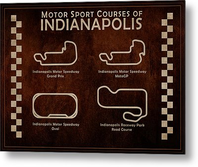 Indianapolis Courses Metal Print