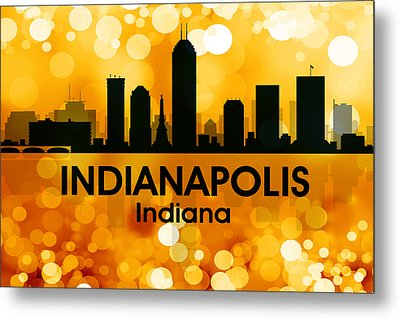 Indianapolis In 3 Metal Print by Angelina Vick