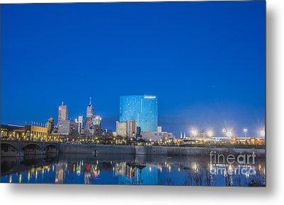 Indianapolis Indiana Blue Metal Print by David Haskett