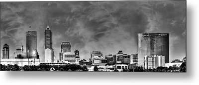 Indianapolis Indiana Skyline 0762 Metal Print by David Haskett