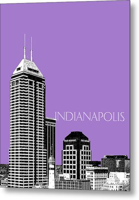 Indianapolis Indiana Skyline - Violet Metal Print by DB Artist