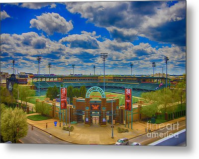 Indianapolis Indians Victory Field Metal Print by David Haskett