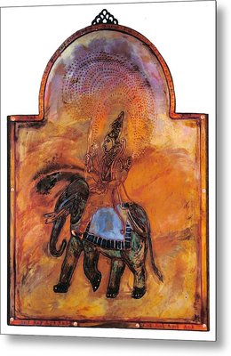 Indra And The Jeweled Net Metal Print