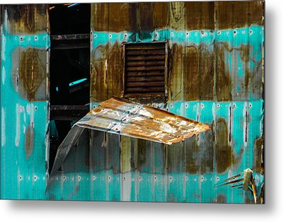 Industrial Decay Metal Print by Christy Usilton