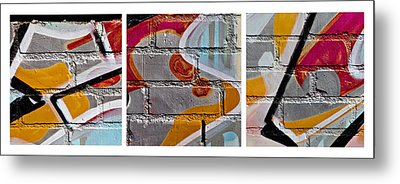 Industrial Graffiti Metal Print by Art Block Collections