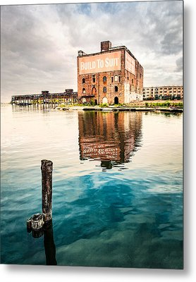 Industrial - Old Buildings - Build To Suit Metal Print by Gary Heller