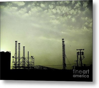 Industrial Sky Metal Print by Colleen Kammerer