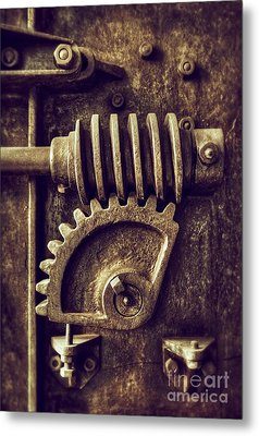 Industrial Sprockets Metal Print by Carlos Caetano