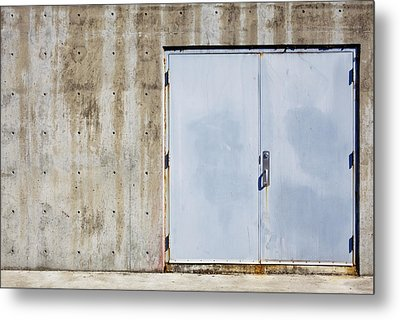Industrial Unit Double Doors Metal Print by Nathan Griffith