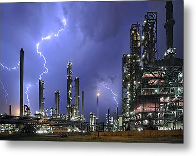 Metal Print featuring the photograph Lightning by Arterra Picture Library