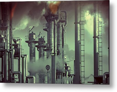 Industry Oil Refinery Concept Metal Print by Christian Lagereek