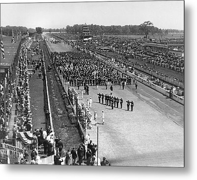 Indy 500 Crowd Metal Print by Underwood Archives