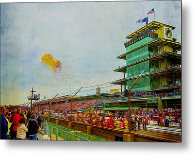Indy 500 May 2013 Race Day Start Balloons Metal Print by David Haskett