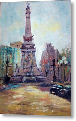 Indy Circle Back-lit Metal Print