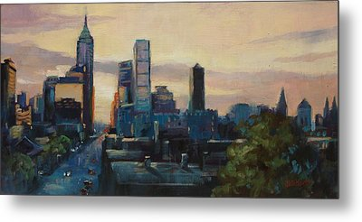 Indy City Scape Metal Print by Donna Shortt