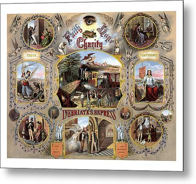 Inebriate Express Vintage Temperance Poster Metal Print by War Is Hell Store